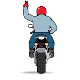 Motorcycle Double File